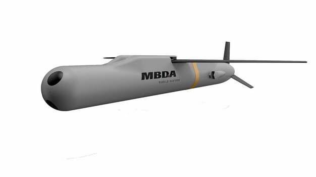 展开翅膀的欧洲导弹集团生产的空地导弹滑翔炸弹465608png图片免抠素材