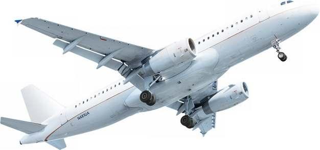 一架白色的双引擎大型客机930176png图片免抠素材