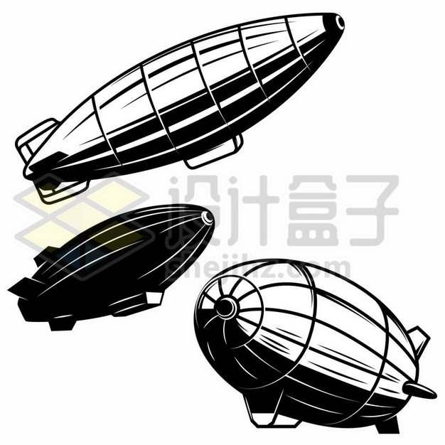 3款兴登堡号飞艇漫画插画329284免抠矢量图片素材