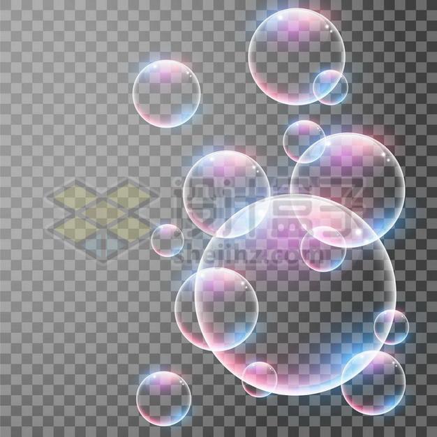 彩色气泡水泡644619png矢量图片素材 漂浮元素-第1张
