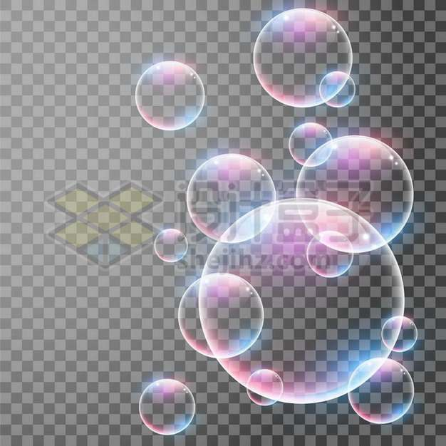 彩色气泡水泡644619png矢量图片素材