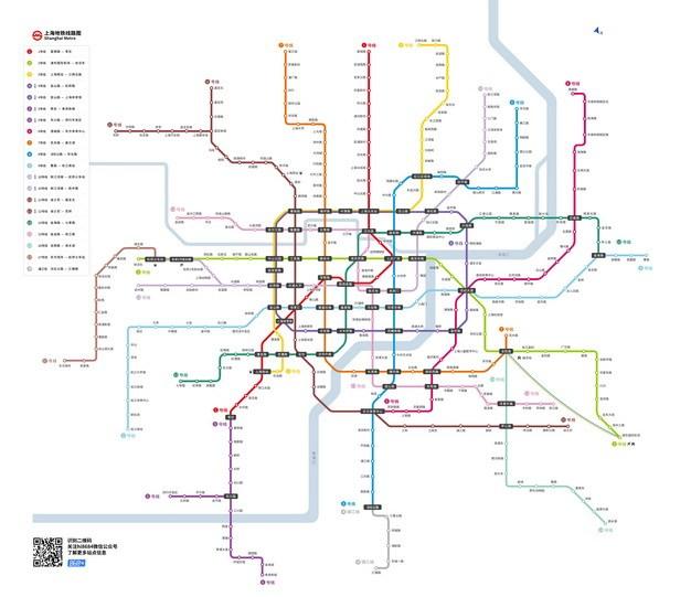 详尽的最新上海地铁线路图110467png图片免抠素材 交通运输-第1张