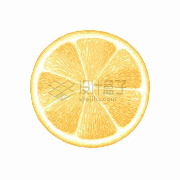切开的橙子横切图美味水果png图片素材