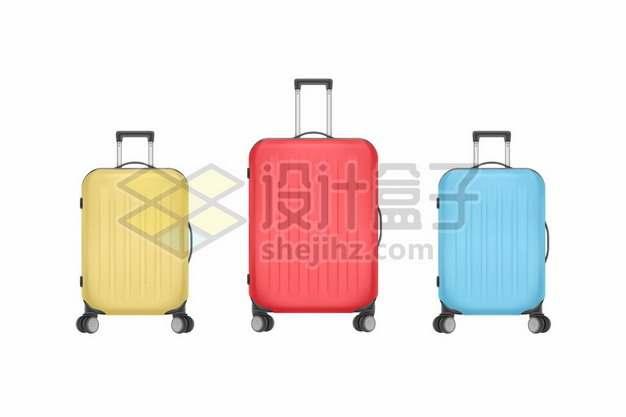 三种颜色的行李箱旅行箱包789544png免抠图片素材