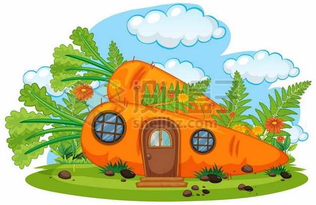 卡通胡萝卜房子486319免抠矢量图片素材