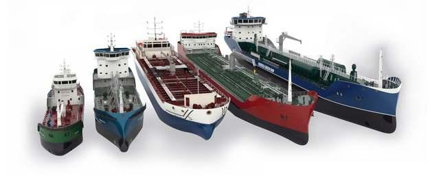 5种类型的轮船油轮货轮438943png图片免抠素材