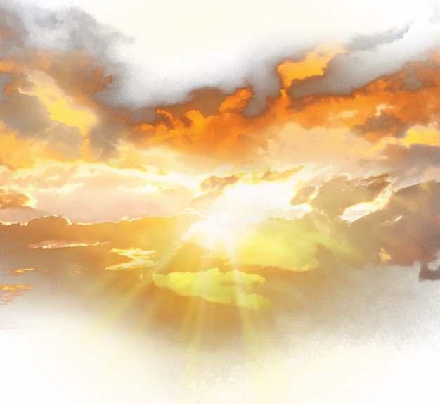 晚霞火烧云日出云层风景图995504png免抠图片素材