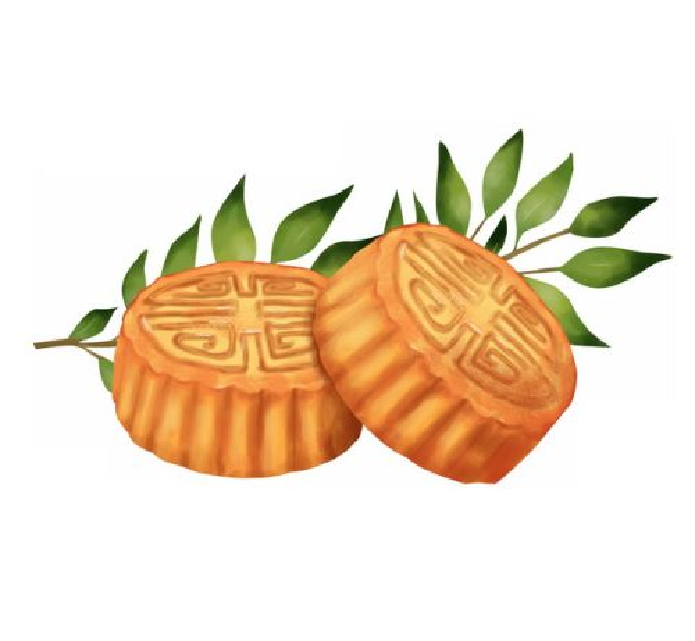 树叶和中秋节月饼938647免抠图片素材