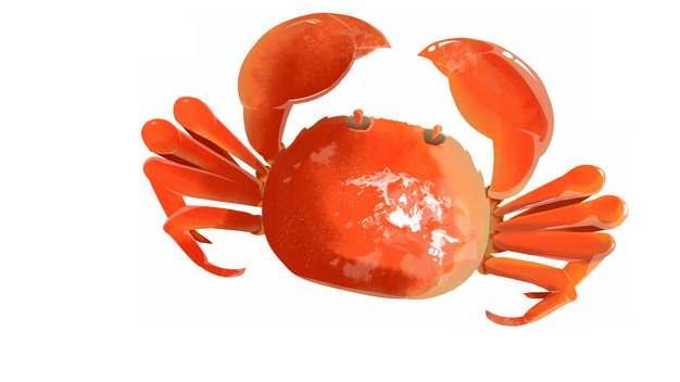 红色的大闸蟹螃蟹606744png图片免抠素材