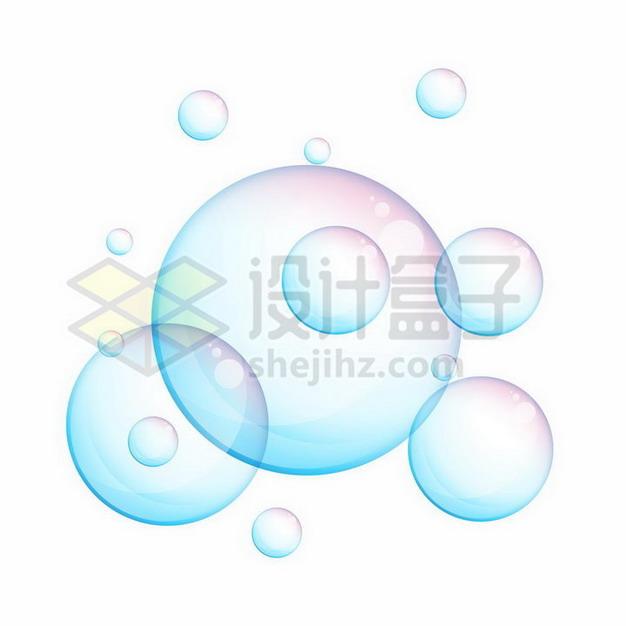 淡蓝色紫色的气泡206630png矢量图片素材 漂浮元素-第1张