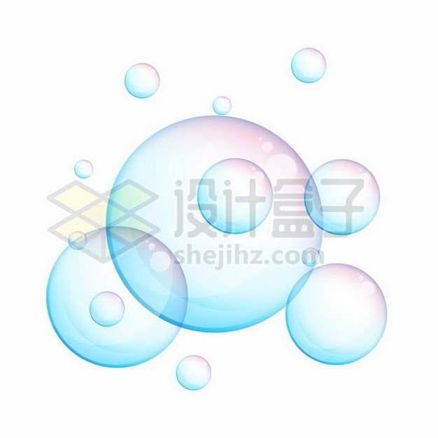 淡蓝色紫色的气泡206630png矢量图片素材