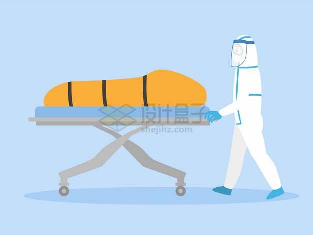 新型冠状病毒肺炎死者尸体装入裹尸袋中png图片素材