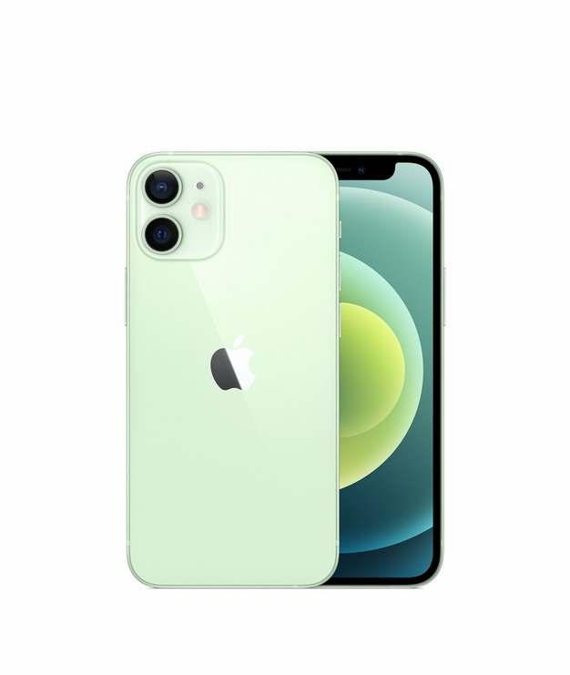 正面背面展示的绿色苹果iPhone 12 Pro手机png免抠图片素材744745