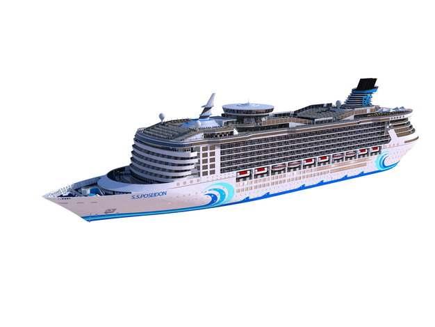 一艘游轮客轮豪华邮轮巨型轮船816799png图片免抠素材