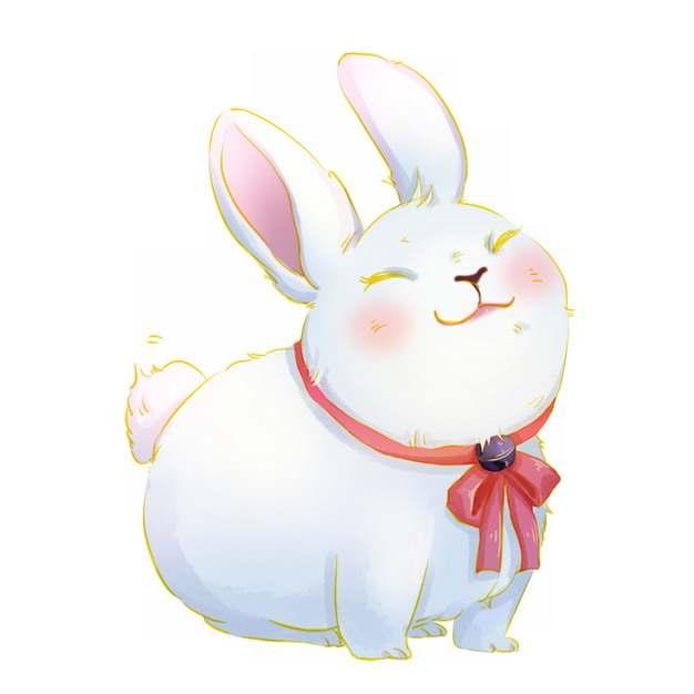 超可爱的卡通小白兔861129png图片免抠素材