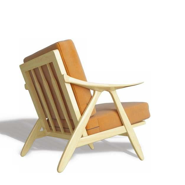 木制单人沙发椅子406118免抠图片素材