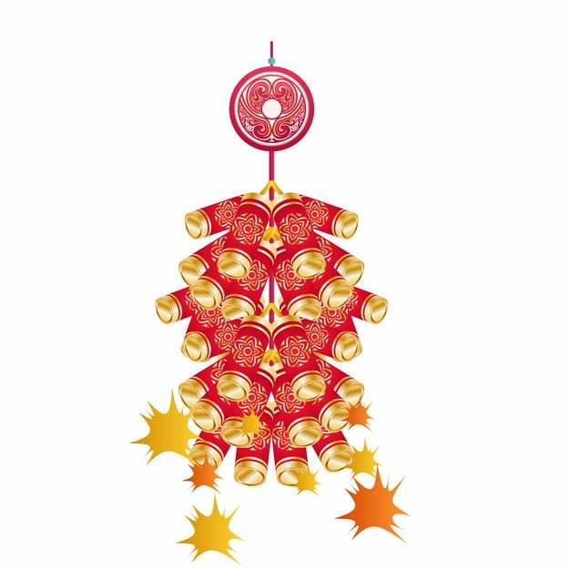 新年春节过年一串鞭炮喜庆装饰633342AI矢量图片素材