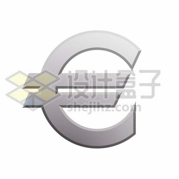银色金属色欧元符号标志图案838037png免抠图片素材