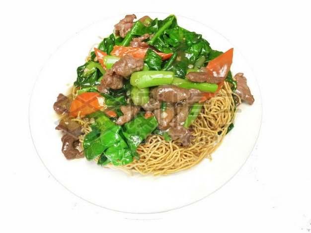 青菜炒牛肉盖浇面783246png免抠图片素材