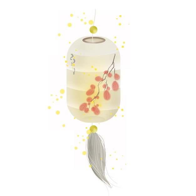一个淡黄色的灯笼518044免抠图片素材