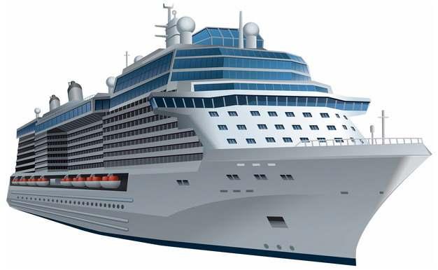 一艘游轮客轮豪华邮轮巨型轮船405783png图片免抠素材