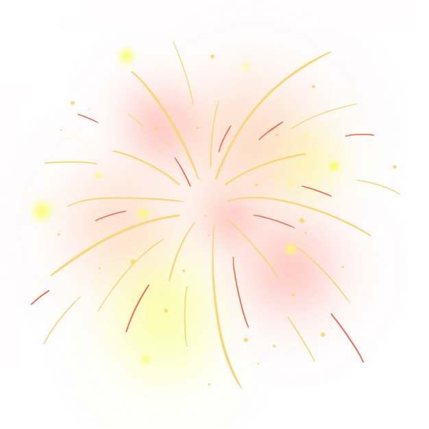 绽开的烟花礼花效果线条简笔画771677png图片素材