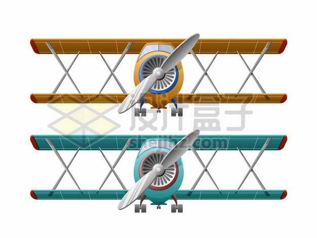 两款双翼机正面259091png免抠图片素材