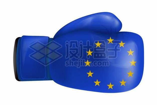 印有欧盟旗帜的拳击手套象征了欧洲实力949643矢量图片免抠素材