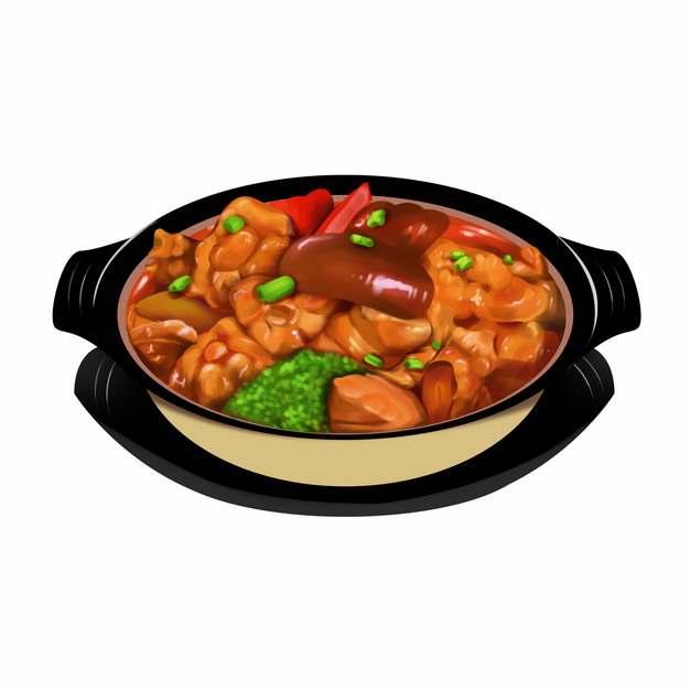 砂锅中的红烧猪蹄595893png图片免抠素材