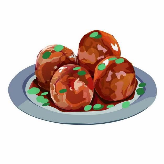 一盘四喜丸子肉丸美味鲁菜782756图片素材