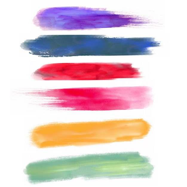 彩色涂鸦油墨水彩色块987347png图片免抠素材