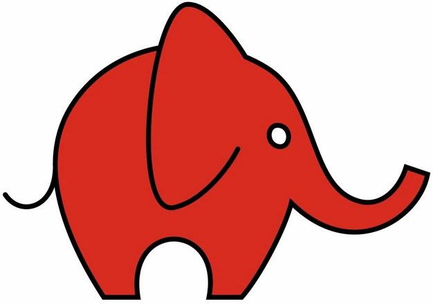 可爱小红象小红红手绘儿童插画195347png图片免抠素材 生物自然-第1张