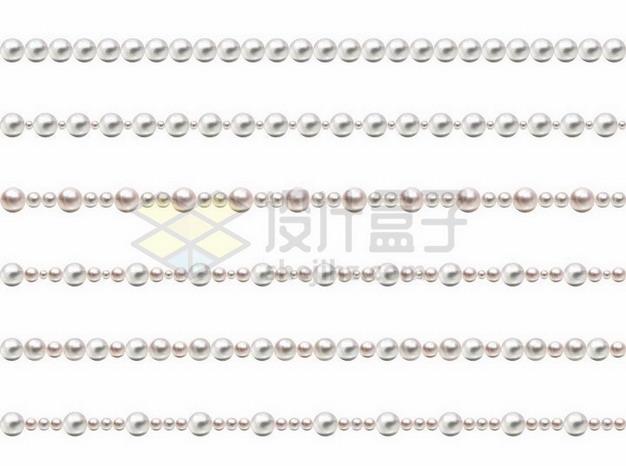 6款珍珠项链分隔线条934744png矢量图片素材 线条形状-第1张