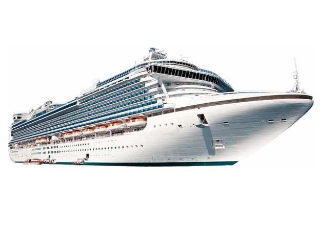 一艘游轮客轮豪华邮轮巨型轮船104081png图片免抠素材