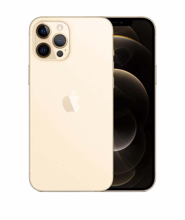 正面背面展示的金色苹果iPhone 12 Pro手机png免抠图片素材248680