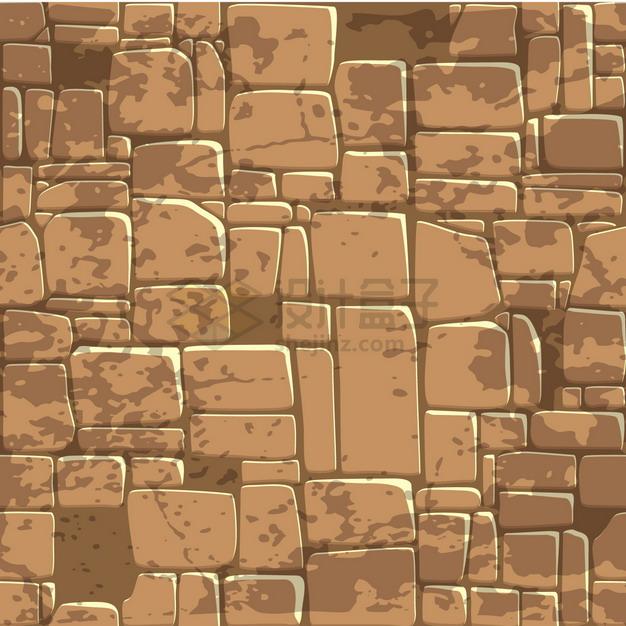 褐色的卡通石头石块背景纹理图png图片素材 材质纹理贴图-第1张