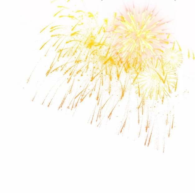黄色烟花礼花效果794171png图片素材