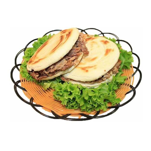 一盘美味的肉夹馍西安小吃707013png图片素材