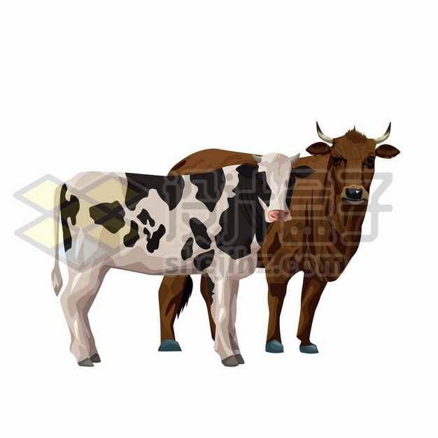 黄牛和奶牛等家畜847431免抠矢量图片素材
