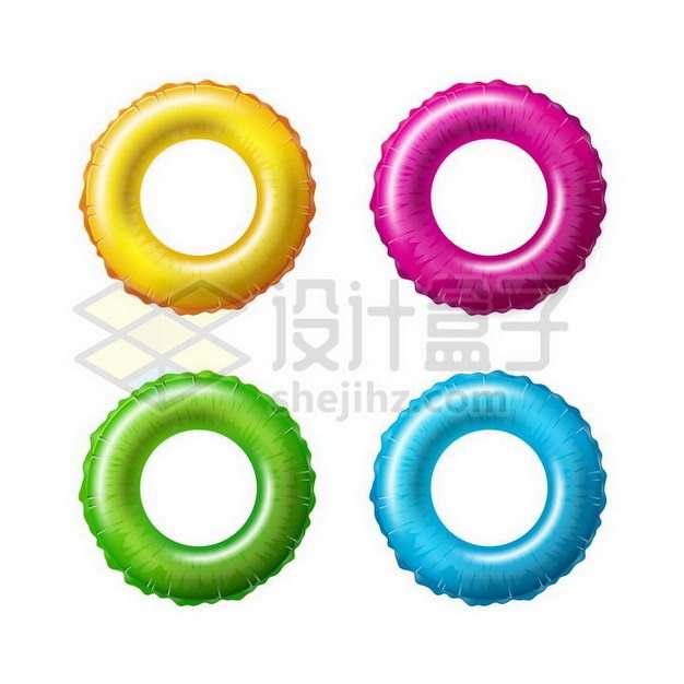 4款彩色游泳圈259805png矢量图片素材