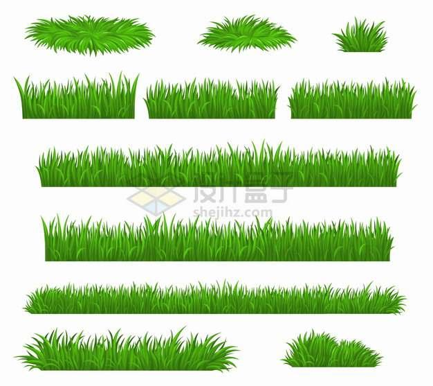 11款青草丛绿草堆草坪草地装饰png图片素材