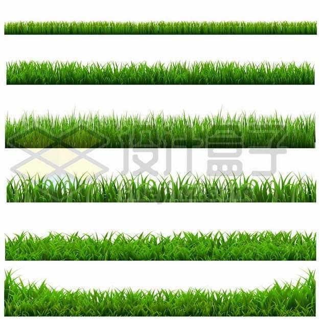 6款绿色青草坪草丛装饰212327png免抠图片素材