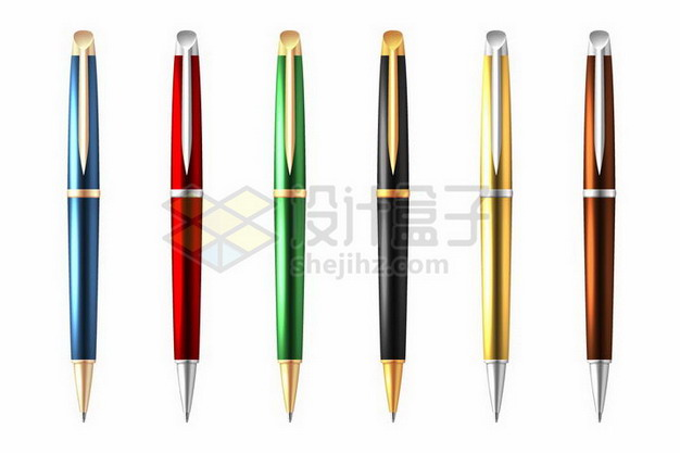 6款逼真的圆珠笔写字工具329232png矢量图片素材 教育文化-第1张