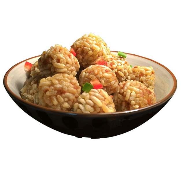 一碗美味的油炸糯香藕丸小吃192417png图片素材