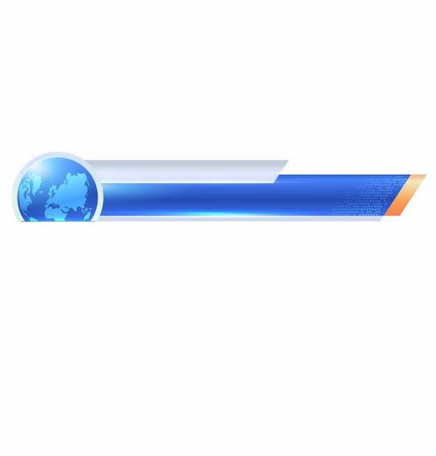蓝色地球科技风格字幕条581889图片素材
