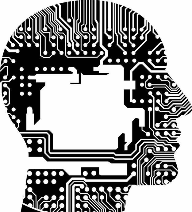 电子电路组成的人体大脑人工智能技术701691png图片免抠素材