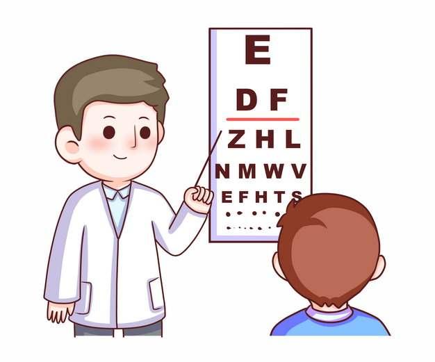 视力测量表卡通眼科医生644421png图片免抠素材