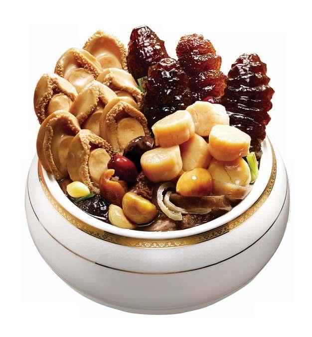 一碗美味的鲍鱼海参瑶柱佛跳墙297485png图片素材