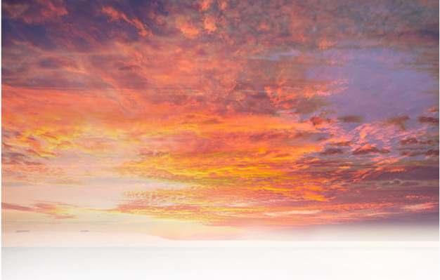晚霞火烧云日出云层风景图552468png免抠图片素材