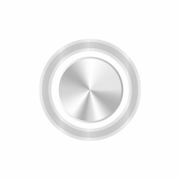 金属银色同心圆开关按钮548754图片素材
